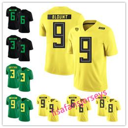 Mens Oregon Duck College Jerseys 3 Vernon Adams Jr 6 De Anthony Thomas 8  Marcus Mariota 9 LeGarrette Blount 2019 yellow green black NCAA 864d94204