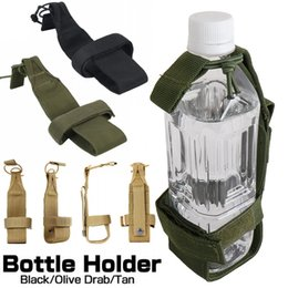 3 colores Tactical Water Bottle Holder Bags Camping Senderismo Caza Canteen Kettle Carrier Belt Pouch Mochilas tácticas desde fabricantes