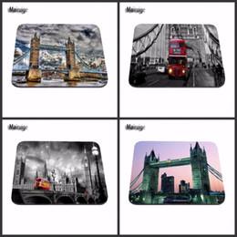 London Tower Bridge Et Bus Refroidissent Jeu Personnalisé Tapis De Souris Pad En Caoutchouc 18 22cm Et 25 29cm 20cm 25cm 0 2cm Pas Surjet