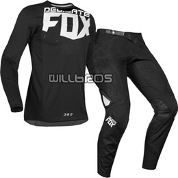 Engrenagem para mtb on-line-2019 DELICADO FOX MX 360 Kila Jersey Pants Motocross Dirt Bike MTB ATV Adulto Corrida Gear Set Preto