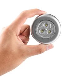 Argentina 3 LED Armario Debajo del gabinete Lámpara Con pilas Interruptor táctil inalámbrico Cocina de la pared Luz del coche Luz nocturna para el coche Suministro