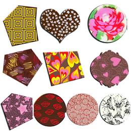 10pcschocolate Transfer Sheetflower Heart Lips Heartrosebutttransstaychocolate Molddecoration For