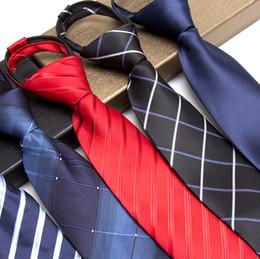 2019 vestire i legami con zip vendita all'ingrosso pigri cravatte per uomo moda solido zip cravatta vestito nero affari nozze jacquard cravatta camicia maschile uomini gravata sconti vestire i legami con zip