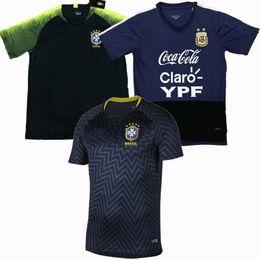 camiseta do brasil Desconto Top novos 2019 Brasil Argentina Jerseys Camisas casuais t camisa de treinamento de futebol
