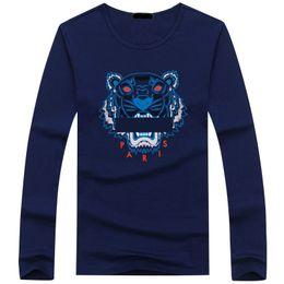 Sıcak satış pamuk Yeni 2019 Erkek Tees Artı Boyutu uzun Kollu t gömlek 7 Baskılı Pamuk T-shirt Erkekler Tasarımcı bahar güz Asya boyutu nereden