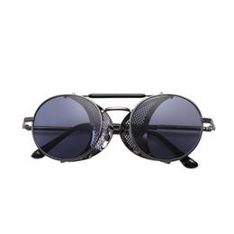 3c798a1ea7bb8 SunBreeze 2019 new arrival men women sun glasses Fashion Rihanna High  Quality Unisex Circle Lens Steampunk UV400 Metal Frame No outer box