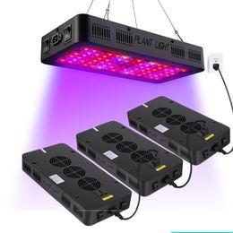 crescere tende Sconti Doppio interruttore LED Grow Grow 900W 600W Spettro completo con Veg e Bloom Modello per serra interna Grow tenda