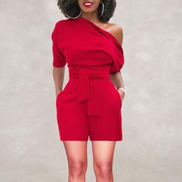 Sexy Bodysuit Femmes Off Combinaison asymétrique pour les femmes Ruffle Short Romper Fashion Casual Jumpsuit Plus Size Fashion Jumpsuit ? partir de fabricateur
