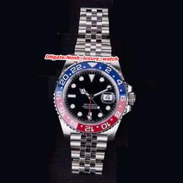 Gmt lunette en Ligne-montres de luxe 40mm aaa montres de luxe pour hommes 126710BLRO 126711CHNR 116713LN 116718LN 126715CHNR Pepsi gmt II lunette en céramique mens montres