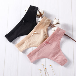 nádegas de silicone hip Desconto Cotton G-String Thong Panties underwear cadeia de Nova Feminina Briefs Sexy Lingerie Calças Intimate ascensão Letter Low Ladies
