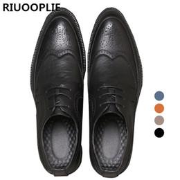 RIUOOPLIE Style britannique Hommes Confortable Tête Tranchante Lace Up Chaussures Habillées Décontractées ? partir de fabricateur