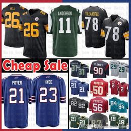 61a0e8a1331 Cheap sale $9.99 Pittsburgh 26 Steelers Le'Veon Bell 78 Alejandro  Villanueva Jersey New York 11 Jets Robby Anderson Buffalo 21 Bills
