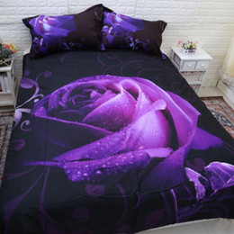 juego de sábanas púrpura tamaño king Rebajas Conjuntos de ropa de cama de edredón LOVINSUNSHINE Juego de sábanas de la reina Juego de cama King Size Purple Rose cubierta de edredón 3d AB # 88