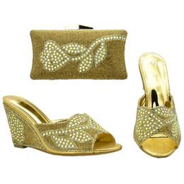 Canada Africain correspondant chaussures et sacs italien dans les femmes parti nigérian chaussures et ensembles de sac femmes chaussures et sac décoré avec strass Offre