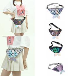 4styles cauda Da Sereia cauda saco de peixe em forma de cinto de cintura pacote de glitter moda praia crianças lady pack coin phone pouch FFA2005 de