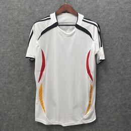 Deutschland einheitliche fußball online-Freies Verschiffen Retro2006 Deutschland-Fußball-Trikots # 7 SCHWEINSTEIGER # 11 KLOSE Soccer Uniform 2006 # 13 BALLACK # 16 LAHM Fußball-Shirt