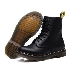 2019 botas de inverno ferramental couro genuíno botas de Martin moda casual senhoras sapatos mulheres sapatos ankle boots à prova d 'água salto robusto DR1460 de