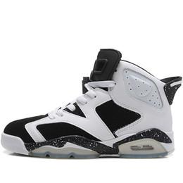 competitive price ec8cd 295f3 nike air jordan aj6 Pas cher Mens Retro 6s chaussures de basket à vendre  Caméléon Oreo Noir infrarouge Vert Glow AJ6 Jumpman VI baskets de vols  aériens J6 ...