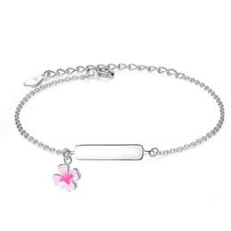 Personifizieren silberne armbänder online-Gravieren Sie Namensarmband personalisierte Armband für Kinder Mädchen 925 Sterling Silber Armband anpassen Geschenk für Baby