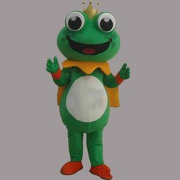 Costumi della mascotte della rana online-2019 di alta qualità Super Hot Frog Prince Mascot Costume Fancy Dress EPE