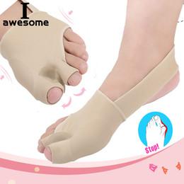 aparelhos ortopédicos Desconto Elástico Silicone Gel Palmilhas Ortopédicas Palmilha Pé Aliviar Toe Dispositivo de Correção Solas Foot Care Toe Valgus Meia Almofadas Das Mulheres Dos Homens