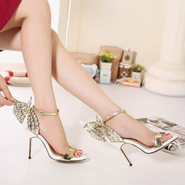 Chaussures habillées de designer YOUYEDIAN Mode Femme talons en or Valentine Bronzing Sequins Big Bowknot Sandales à Talons Sandales en épingle à cheveux salto gross # g30 ? partir de fabricateur