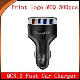 Carregador de tablet 12v on-line-Carregador de carro rápido QC3.0 com 4 USB 5V 9V 12V total 6.2A para iPhone Samsung Xiaomi Tablet