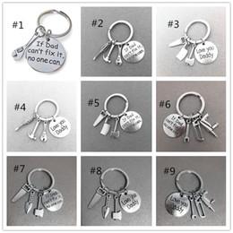 Platin schlüsselbund online-Vatertag Verkauf Personalisierte Schlüsselanhänger kreative Geschenke Handwerkzeuge Schlüsselanhänger Hand Papa kann es reparieren