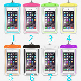 Universal a prueba de agua caja del teléfono móvil para iPhone 8 Samsung S9 claro PVC sellado bajo el agua teléfono inteligente cubierta de la bolsa de natación desde fabricantes
