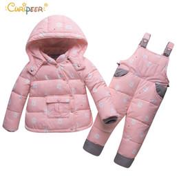 Vêtements d'hiver pour enfants Set garçons filles Duck Down Jacket + Pantalon costume épais manteaux manteaux Toddler nouveau-né infantile neige Porter ? partir de fabricateur
