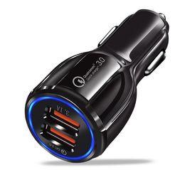 Carregadores carro oem on-line-3.1A OEM mini-carregador do telefone portátil 2 Porta USB Car Charger Quick Charge QC 3.0 Car Charger Dual USB para Apple iPhone