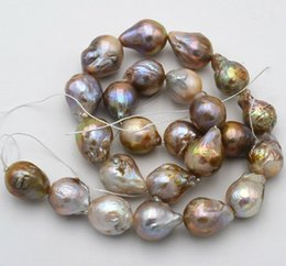 """Natural 8-9mm Round Reborn Edsion Mixed Freshwater Pearl Loose Beads Strand 15/"""""""