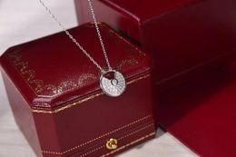 Подвеска с бриллиантовым клевером онлайн-Ожерелья Четырехлистный клевер полный алмаз одиночный цветок кулон ожерелье для женщин бренд дизайнер ювелирных подарков