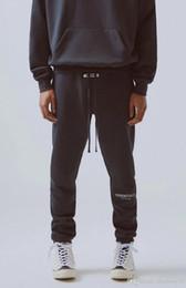 calça de baixo para homem Desconto Temor de Deus dos homens do desenhista Calças Calças 19FW Essentials High Street para homens FOG Reflective Sweatpants Mens Branded Hip Hop Streetwear