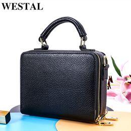 ea0430a29f9e0 2019 Fashion WESTAL Women Messenger Bags ladies Genuine Leather Luxury Handbags  Women Bag Designer Bag Female Shoulder Crossbody Bags