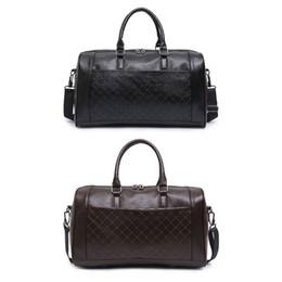 Sacos de couro de grandes dimensões on-line-Couro PU Vintage Oversized Weekender Duffel Bag Pernoite Noturno Bolsa