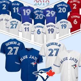 Baseball jerseys toronto online-Vladimir Guerrero Jr. 27 Blue Jays Jersey Toronto Baseball 6 Marcus Stroman 11 Kevin Säule 20 2 Troy kühle niedrige 2019 Männer Hemd