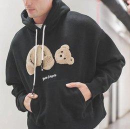 urso de veludo cotelê Desconto Palmeiras Anjos camisola Hoodies Terry Homens Mulheres Hoody Corduroy Urso Suéter