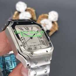 square men white watch Promo Codes - Luxury Men Stainless Steel Watch 2813 Automatic Movement Mechanical Silver Case Rivets Bracelet Men Sports Original Clasp WristWatches