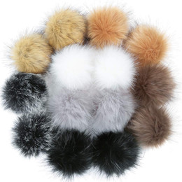 hat keychains wholesale Coupons - DIY Faux Fur Fluffy Pompom cute Ball for Hats Shoes Scarves Keychains Bag Charms Soft faux fur makes you very comfortable.#y40