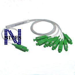 conectores de fibra óptica Desconto Conector do SCP do divisor 1x8 do PLC da fibra ótica da alta qualidade 0.9mm mini