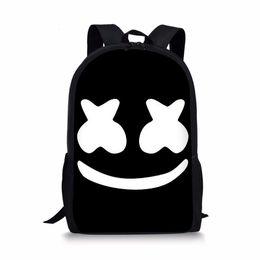 mochila de personaje mochila Rebajas Mochila escolar para niños Boy Girls Mochila 3D Marshmello Mochila de impresión Mochila escolar Útiles escolares Satchel Casual Book Bag