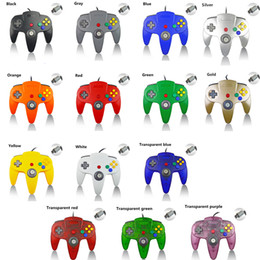 n64 controllers Promo Codes - USB Long Handle Game Controller Pad Joystick for PC Nintendo 64 N64 System 5 Color in stock