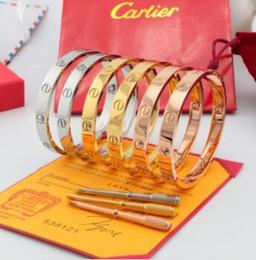 remendo bordado da âncora Desconto Amante pulseiras com full CZ diamante prata rosa pulseira de ouro com chave de fenda Pulseira para amantes de Jóias