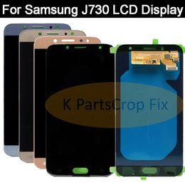ремонт стекол мобильных телефонов Скидка Super AMOLED For  Galaxy J730 J7 Pro 2017 LCD Display+Touch Screen Digitizer Assembly Replacement For  J730 LCD