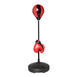 punch boxing gloves Coupons - S Size Adjustable Standing Punching Bag Boxing Gloves Ball Adults Children Punching Sport Sand Bag Boxing Fitness Supplies