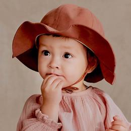 89ba3e75612 Nouveau arrivé bébé d été chapeaux enfants seau chapeau enfants chapeaux  garçons chapeau de soleil filles chapeau de seau filles casquettes en gros  garçons ...