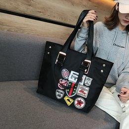 2019 koreanische große tasche Winter neue koreanische Version von Männern und Frauen tragbare Big Bag Umhängetasche wasserdicht Oxford Textil-Einkaufstasche günstig koreanische große tasche