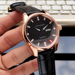 Mans regarder le japon mouvement en Ligne-montres de luxe pour homme montres de marque 40mm bracelet en cuir véritable mouvement mécanique automatique Japon décontracté montres orologio di lusso