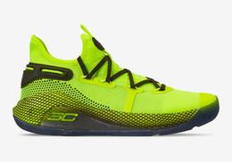 Acquista Currys 6 Coy Fish per le vendite spedizione gratuita Stephen Currys 6 Hi Vis scarpe da basket gialle con scatola US7-US12 da